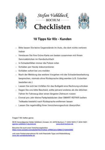 Tipps für KFZ-Kunden